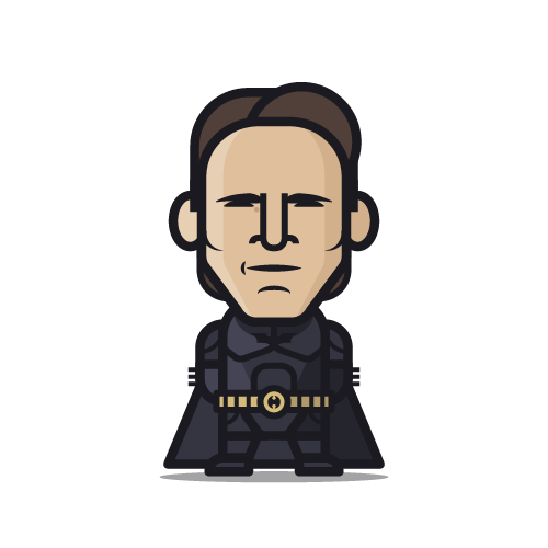 Loogmoji of Christian Bale as Batman