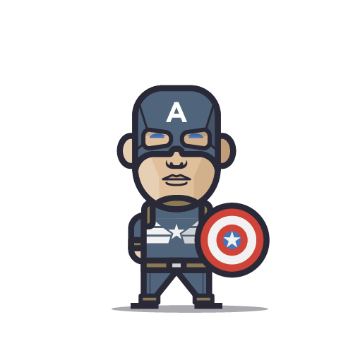 Loogmoji of Captain America