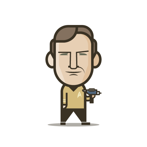 Loogmoji of Captain Kirk