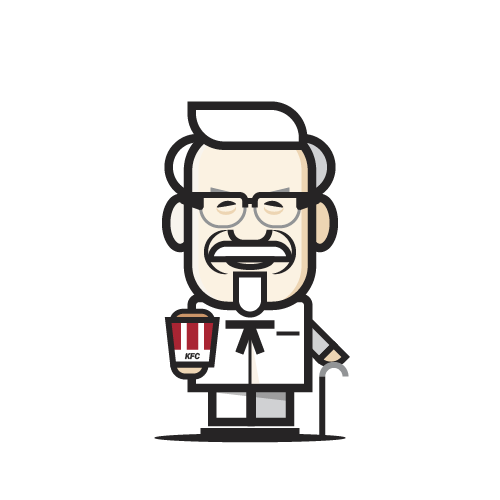 Loogmoji of Colonel Sanders
