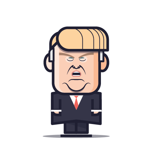 Loogmoji of Donald Trump