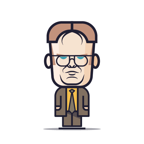 Loogmoji of Dwight Schrute