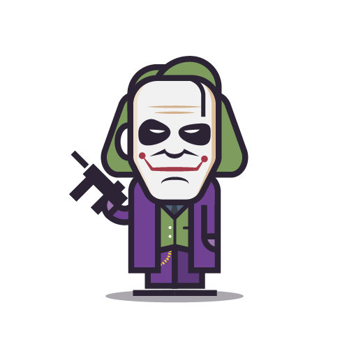 Loogmoji of Heath Ledger as the Joker