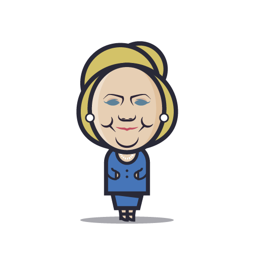 Loogmoji of Hillary Clinton