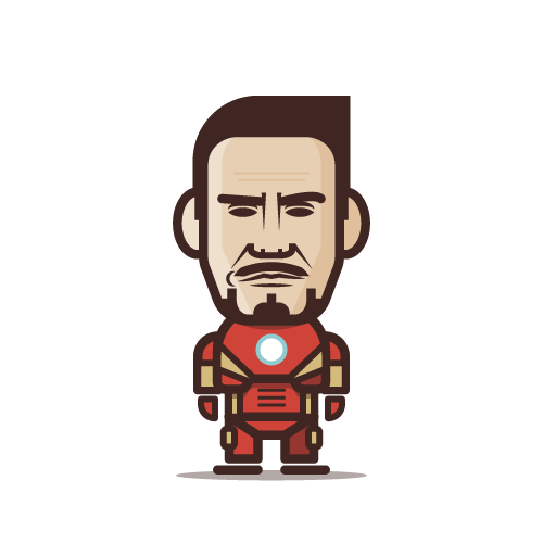 Loogmoji of Robert Downey Jr. as Ironman