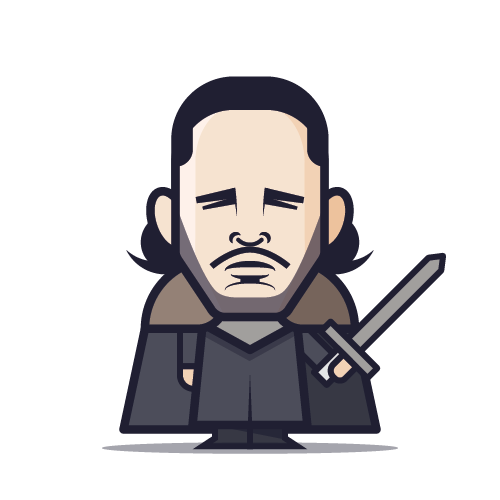 Loogmoji of Jon Snow
