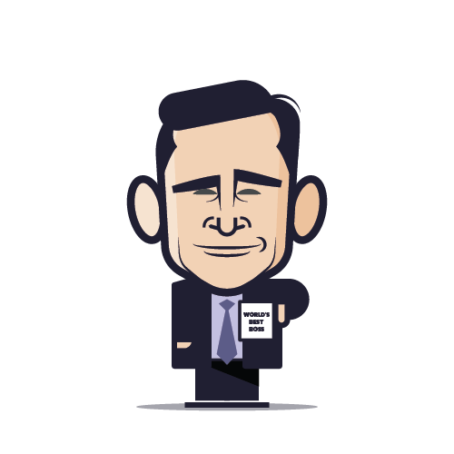 Loogmoji of Michael Scott
