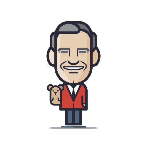 Loogmoji of Mr. Rogers