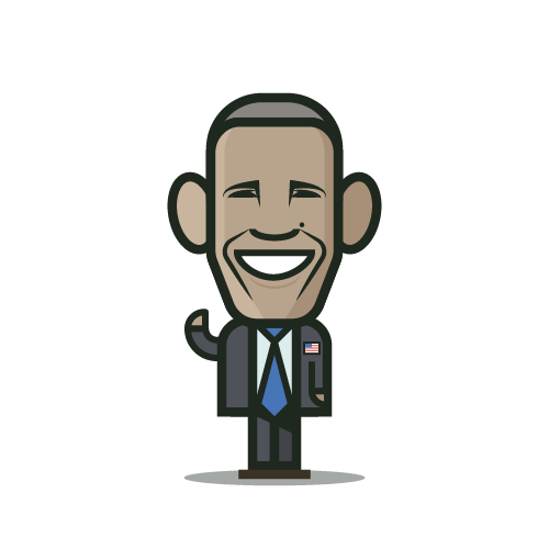 Loogmoji of Barrack Obama