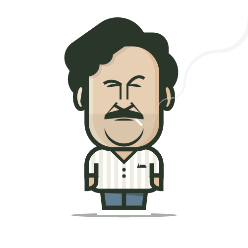 Loogmoji of Pablo Escobar