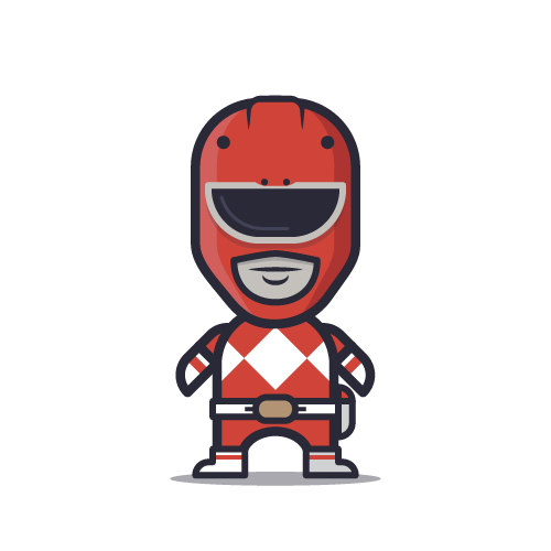 Loogmoji of the Red Power Ranger