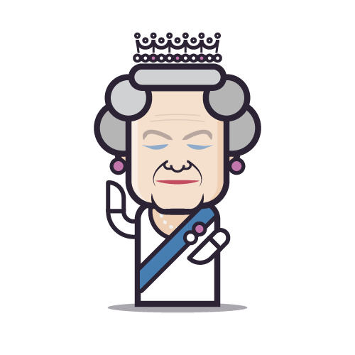Loogmoji of Queen Elizabeth