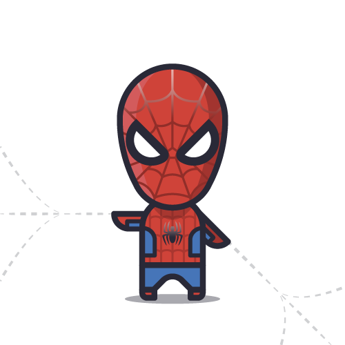 Loogmoji of Spiderman