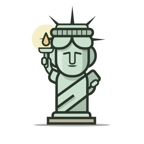 Loogmoji of The Statue of Liberty