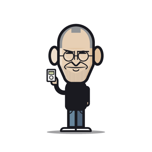 Loogmoji of Steve Jobs