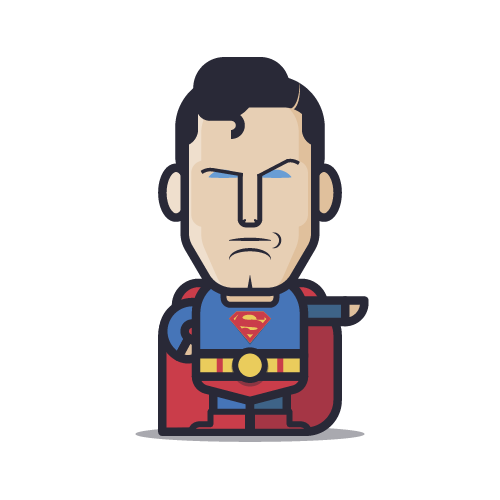 Loogmoji of Superman