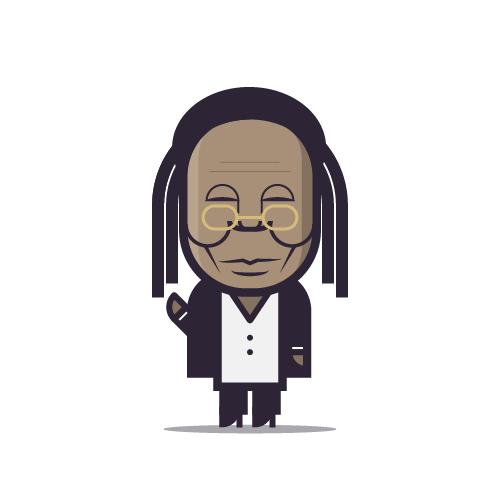 Loogmoji of Whoopi Goldberg