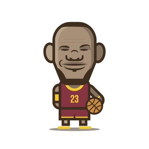 Loogmoji of Lebron James