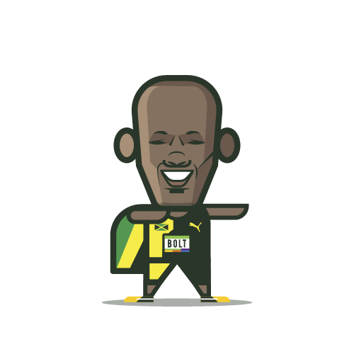 Loogmoji of Usain Bolt