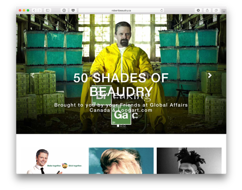 50 Shades of Beaudry retirement gift website