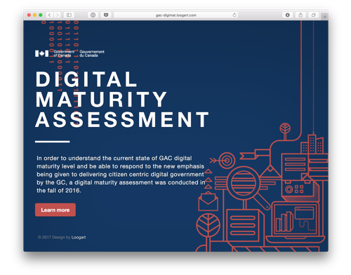 Global Affairs Digital Maturity Micro website prototype