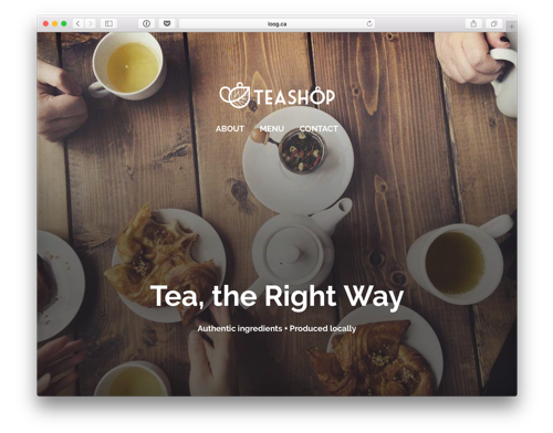 Salon Teashop website prototype
