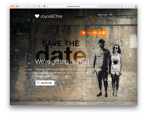 Save the Date website by Loogart