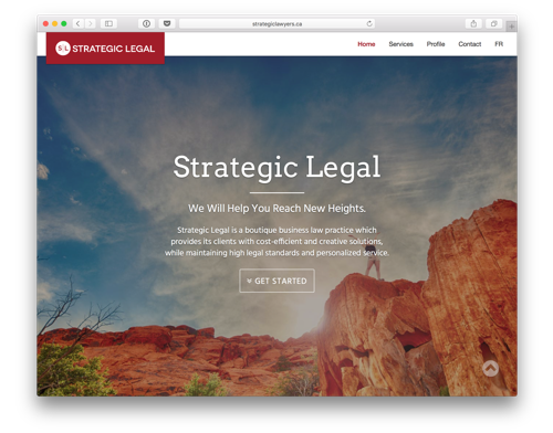 Strategic Lawyers website