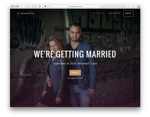 wedding website by Loogart
